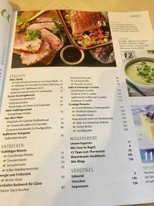 Inhaltsverzeichnis Mix-Kochbuch
